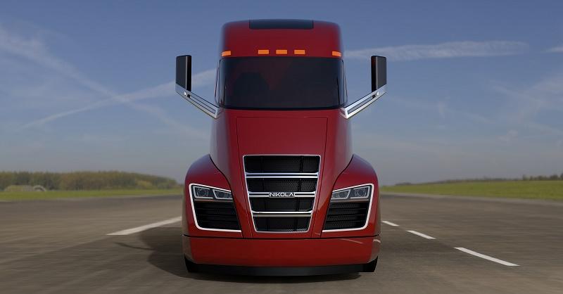 Nikola One - Hybrid Electric Truck - Red (Image c/- Nikola Motors)